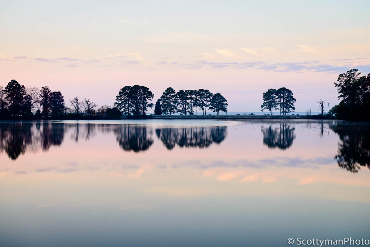 Does photography gear matter? An image of Maury Lake captured on the Noland Trail in Newport News Virginia.